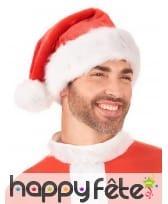 Bonnet de Noël rouge contour et pompon blanc, image 2