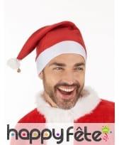 Bonnet de Noël rouge et blanc avec grelot, image 1