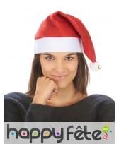 Bonnet de Noël rouge et blanc avec grelot, image 2