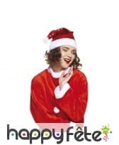 Bonnet de Noël rouge pailleté