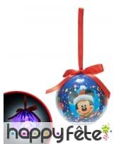 Boule de Noël Mickey Lumineuse 7,5cm