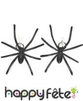 Boucles d'oreilles araignées noires, image 2
