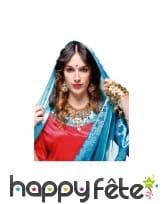 Boucles d'oreilles et collier Bollywood