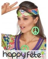 Boucles d'oreilles et collier peace and love, image 2