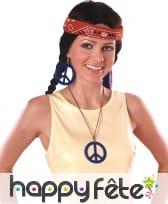 Boucles d'oreilles et collier peace and love, image 3