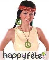 Boucles d'oreilles et collier peace and love, image 5