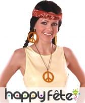 Boucles d'oreilles et collier peace and love, image 6