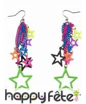 Boucles d'oreilles étoiles disco