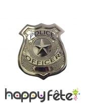 Badge de police en métal