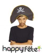 Bicorne de pirate pour petit garçon