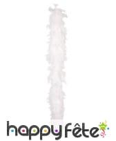 Boa de plumes blanches
