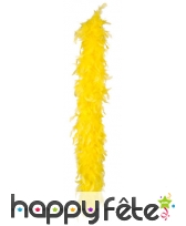 Boa de plumes jaune