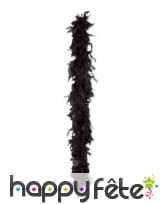 Boa de plumes noires