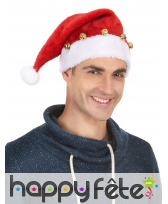 Bonnet de Père Noël décoré de grelots, image 1