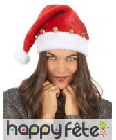 Bonnet de Père Noël décoré de grelots, image 2