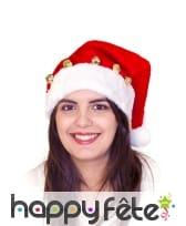 Bonnet de Père Noël décoré de grelots, image 3