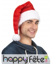 Bonnet de Père Noël rouge rayuré, image 1