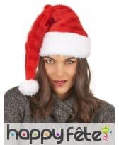 Bonnet de Père Noël rouge rayuré, image 2