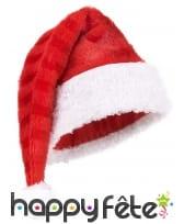 Bonnet de Père Noël rouge rayuré
