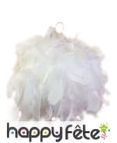 Boule de plumes blanches de 10 cm