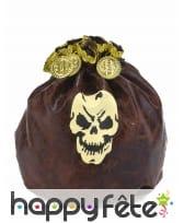 Bourse de pirate imitation cuir, 23cm
