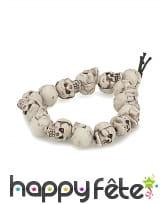 Bracelet de perles crâne