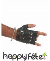 Bracelet de piques argentées, image 2