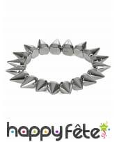 Bracelet de piques argentées