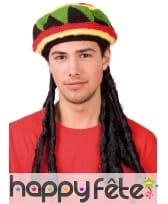 Bonnet de rasta avec dreadlocks