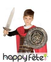 Bouclier de romain avec épée pour enfant