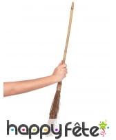 Balai de sorcière droit de 88cm manche en bambou, image 1