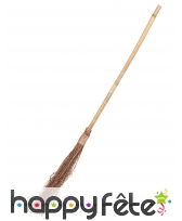 Balai de sorcière droit de 88cm manche en bambou
