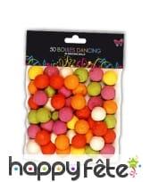 Boules de sarbacane colorées. X50