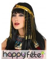 Bandeau de tête égyptien doré avec serpent