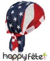 Bandana drapeau USA en tissu, image 1