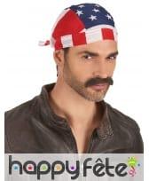 Bandana drapeau USA en tissu, image 2