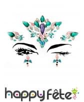 Bijoux de visage à coller fantaisie pour adulte, image 2