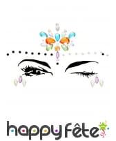 Bijoux de visage à coller fantaisie pour adulte, image 5