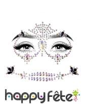 Bijoux de visage fantaisie à coller pour adulte, image 3