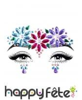 Bijoux de visage fantaisie à coller pour adulte, image 7