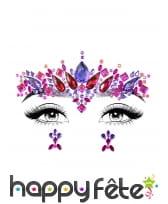 Bijoux de visage fantaisie à coller pour adulte, image 8