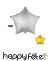 Ballon étoile aluminium de 68cm