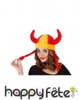Bonnet Espagne avec cornes et nattes