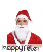 Bonnet et barbe de père Noël premier prix