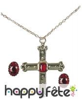 Bagues et collier de cardinal