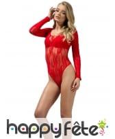 Body en dentelle rouge, image 2