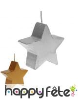 Bougie étoile de 7cm