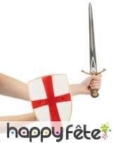 Bouclier et épée de croisé, en plastique, image 1