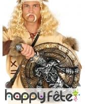 Bouclier et épée viking motif squelette de 57cm