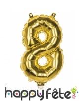 Ballon en forme de chiffre doré de 36 cm, image 10